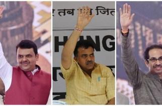 Devendra Fadnavis, Sanjay Nirupam and  Uddhav Thackeray