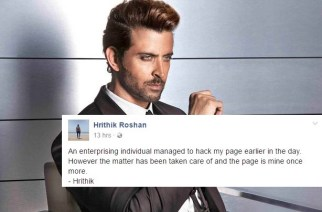Hrithik's Facebook account hacked