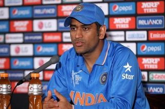 MS Dhoni addressing the press after India-Bangladesh match