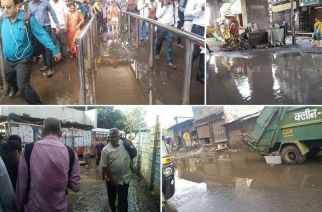 Several areas witnessed water logging on Friday morning (Images attributed to owners below)