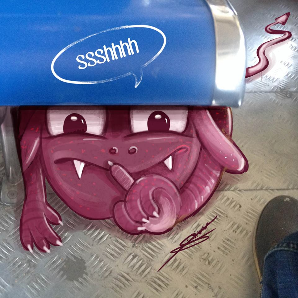 In pictures: Artist adds 'monsters' to daily life in Mumbai 9