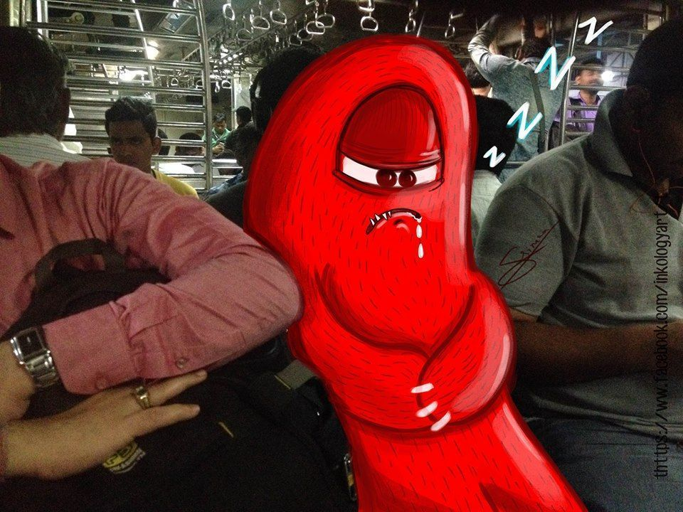 In pictures: Artist adds 'monsters' to daily life in Mumbai 1