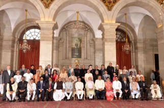 President Pranab Mukherjee with the award recipients
