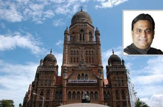 BMC Headquarters (inset: SP leader Rais Shaikh)