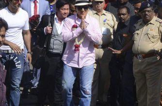 Jackie Chan arrives in Mumbai. Picture Courtesy: Kunwar Mrityunjay