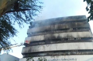 The Museum of Natural History in New Delhi caught on fire