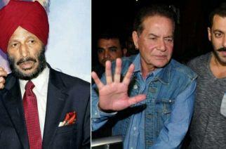 Milkha Singh, Salman Khan with his father Salim Khan