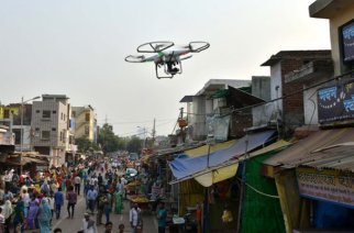 Civic officials will use the drones to conduct aerial surveys which will help identify illegal or unassessed properties (Representative Image, Courtesy: Samhams Technologies)