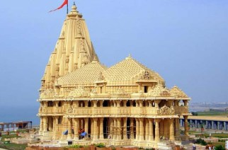 Pictured: Gujarat's renowned Somnath temple