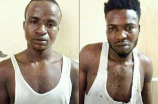 The ringleader, Infunanya Ginika Minke (left) and one of the drug peddlers, Ique Emaniyal; Photo courtesy: Mid Day