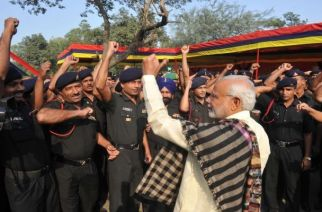 PM Narendra Modi with Armed Forces