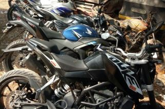 The bikes seized by Pant Nagar police
