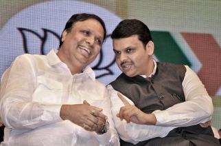 Mumbai BJP president Ashish Shelar with Maharashtra CM Devendra Fadnavis