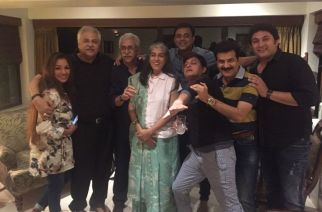The entire cast of Sarabhai vs Sarabhai at Satish Shah's house last year