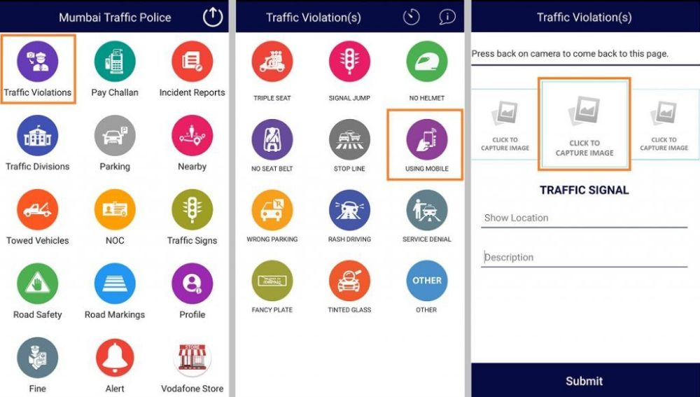Saw a traffic violation? You can now report it directly to Mumbai traffic police via MTPapp