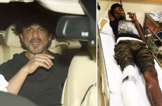 Shah Rukh Khan (inset: the injured photographer). Picture Courtesy: Viral Bhayani