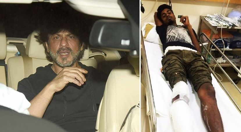 Shah Rukh Khan's car accidentally runs over photographer's foot in Juhu