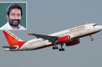 Air India (inset: Ravindra Gaikwad)