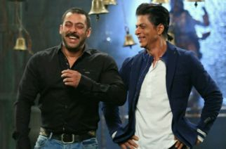 SRK and Salman sharing a light moment on the sets of Big Boss