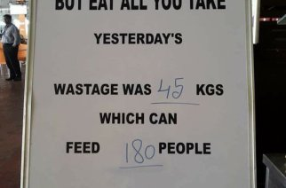 TCS cuts down food wastage with the help of a board and marker