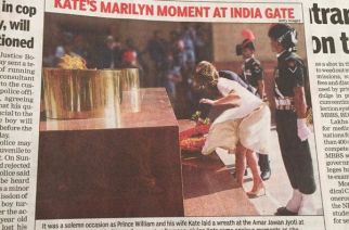 Prince William and Kate Middleton paid homage to the soldiers at India Gate