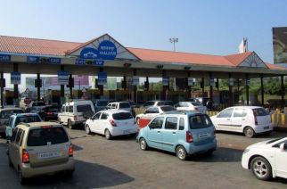 Toll plaza on the Mumbai-Pune expressway