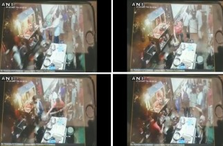 The incident was captured on CCTV camera (screengrabs from the video, courtesy: ANI)