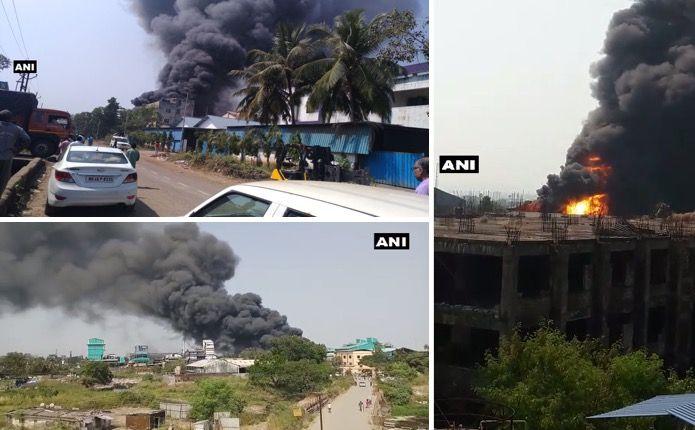 Video: Massive fire breaks out at factory in Taloja MIDC, Navi Mumbai