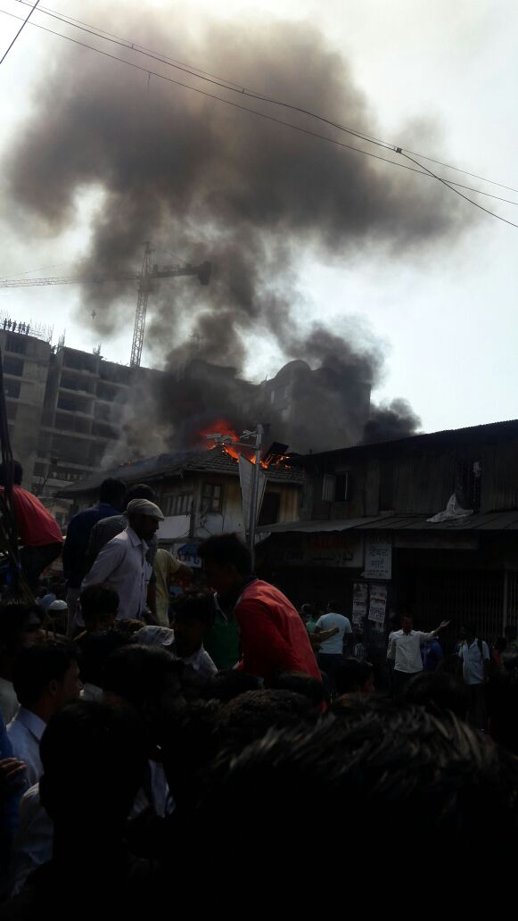 Video: Massive fire breaks out in Arab Galli in Kamathipura near Grant Road