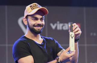 Virat Kohli at the launch of his 'FanBox'