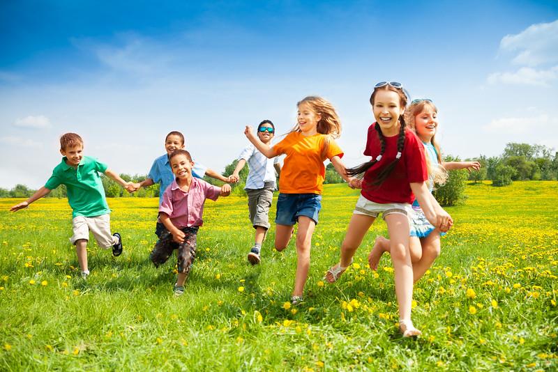 kids children playing outdoor