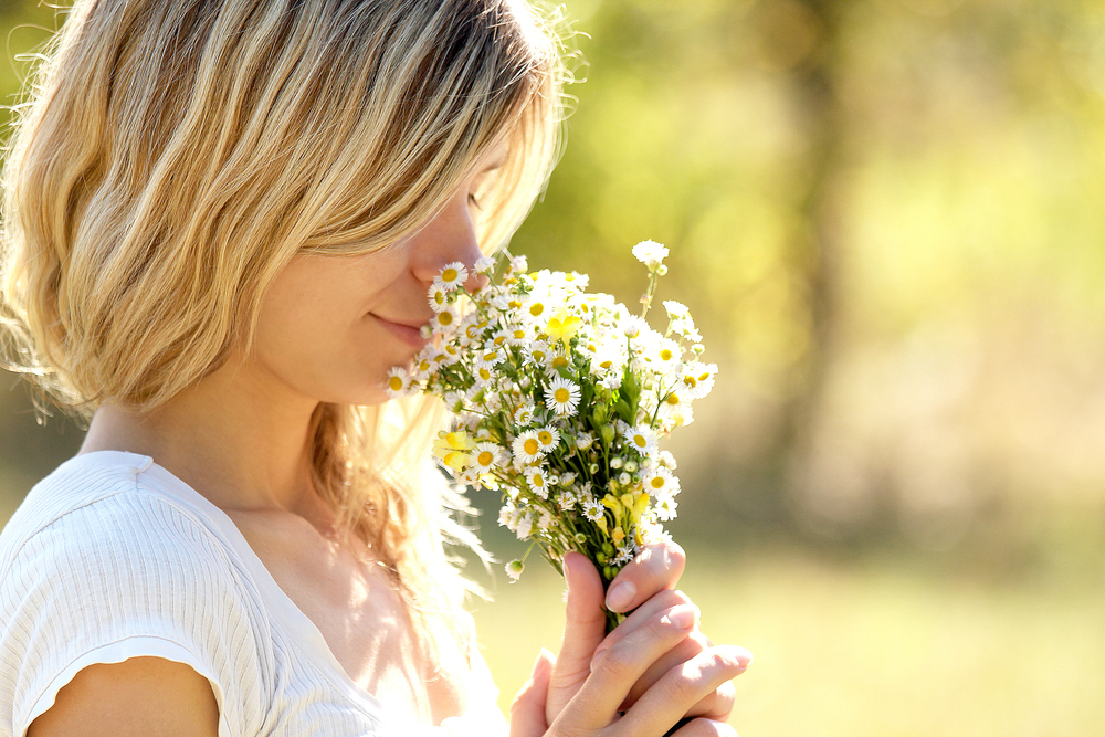 smell flowers
