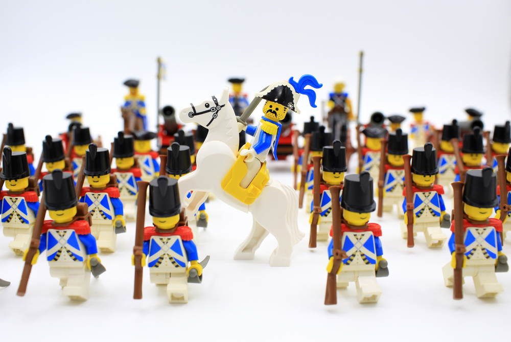 Lego Bricks Minifigs Plano