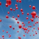 red ribbon week balloon launch