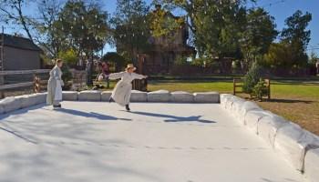 Plano ice skating rink, Heritage Farmstead Museum