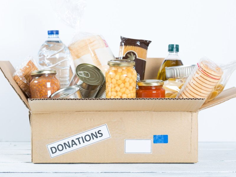 food drive donation box