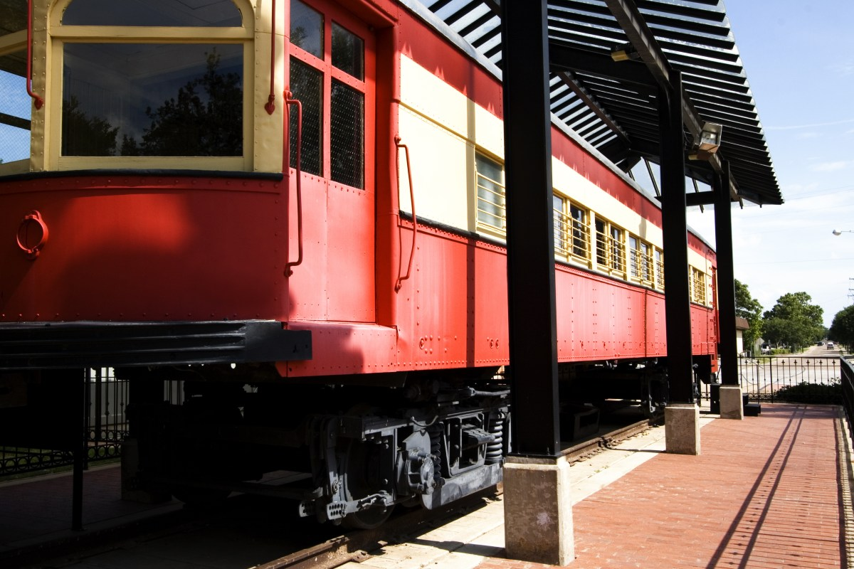 historic downtown plano train traincar