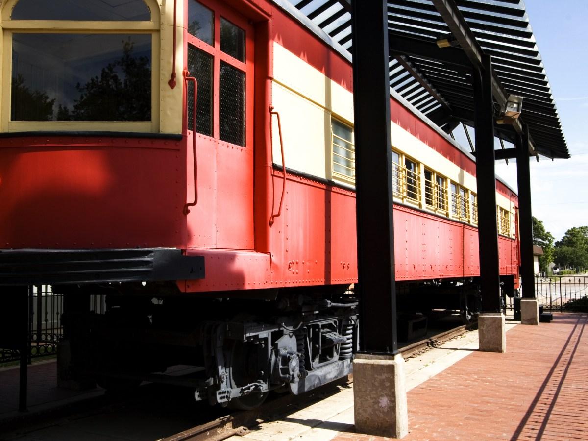 historic downtown plano train traincar