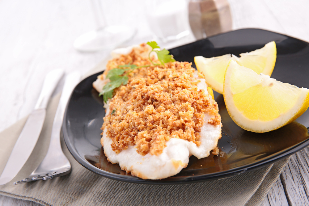 RECIPE parmesan crusted trout fish