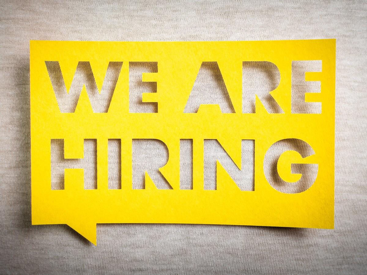 hiring sign job fair
