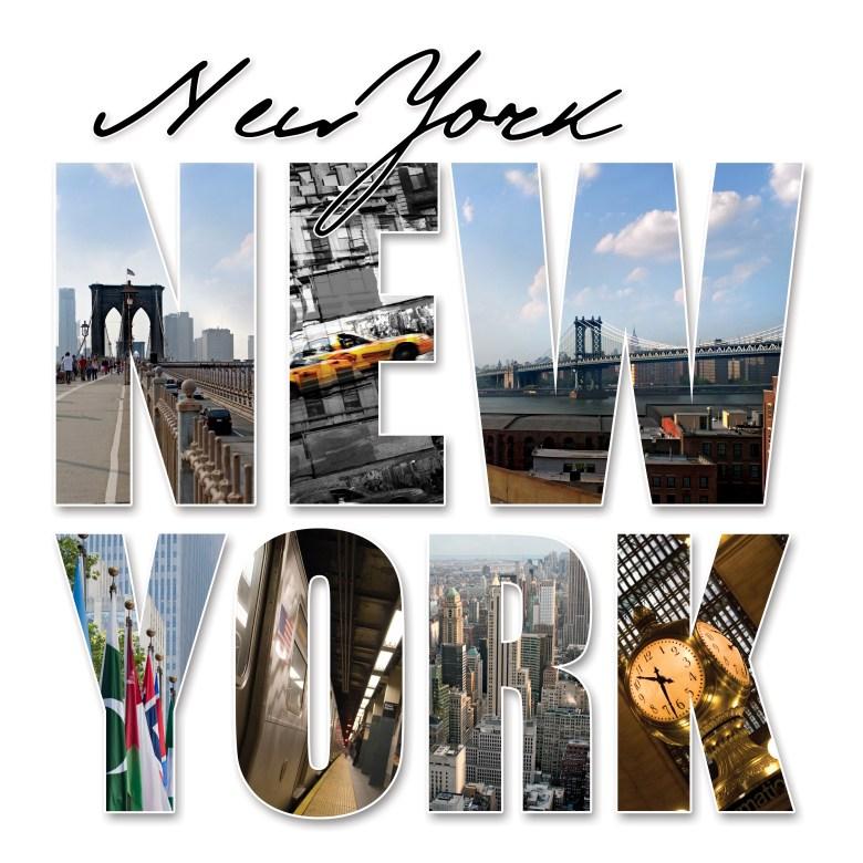 new york theme word city