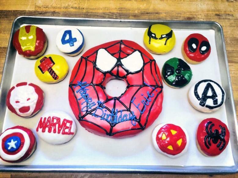 hurts donut spiderman doughnut