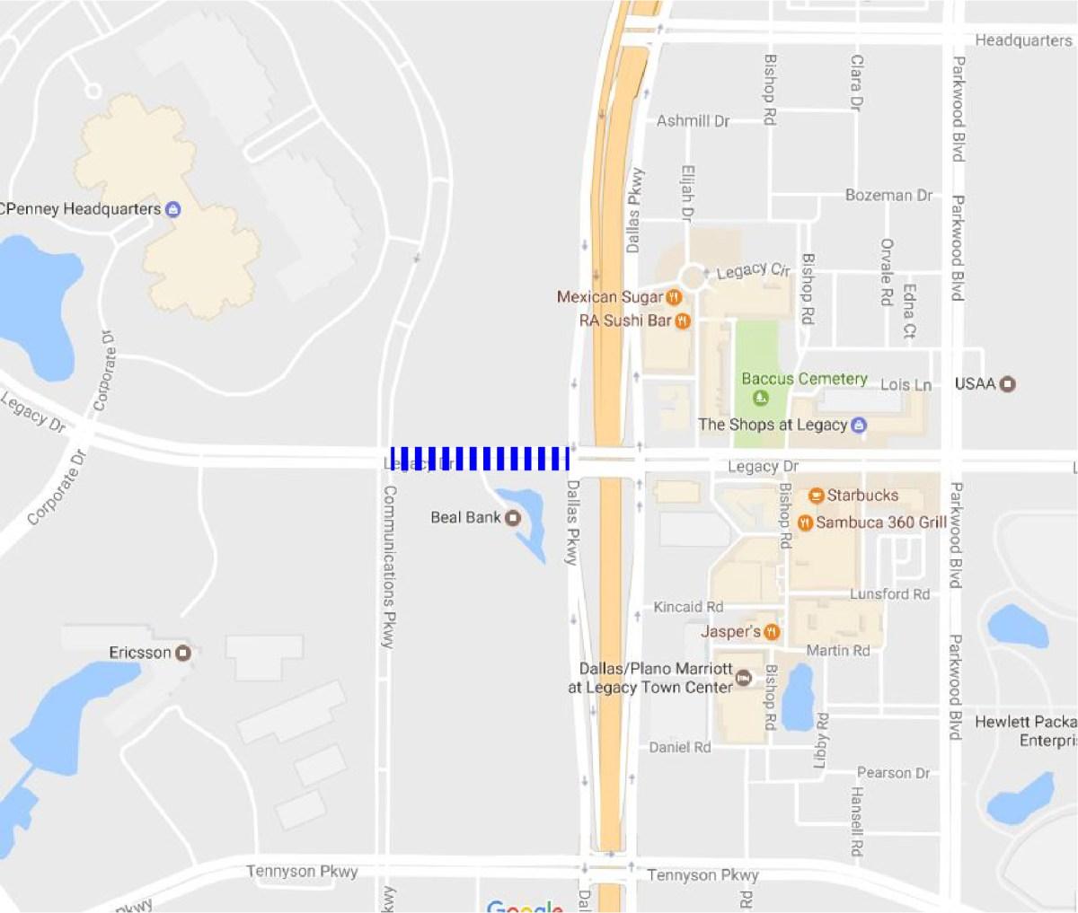 legacy drive crosswalk closing 12 14 16 2