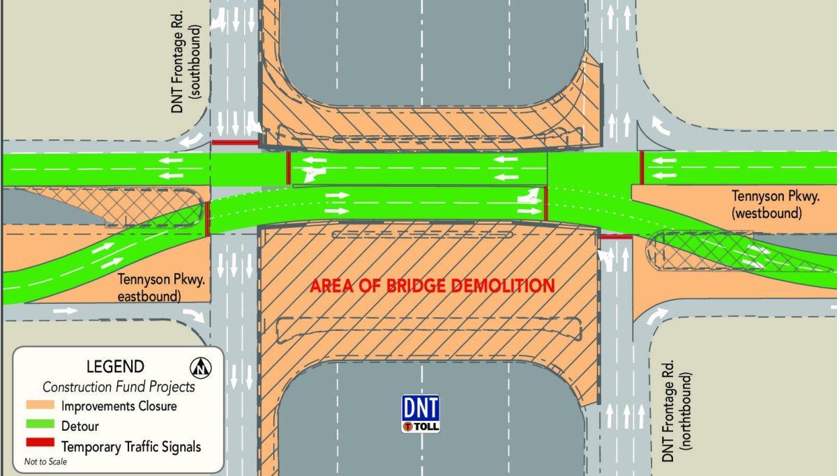 dnt dallas north tollway demolition tennyson parkway full closure plano e1490672070437