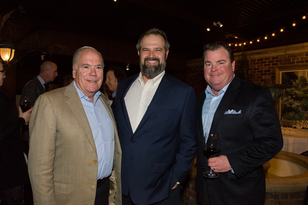 Larry Flannery, Plano Profile Publisher Philip Silvestri and Steve McSwain at III Forks Steakhouse, Dallas. All photography by Stephanie Tann.