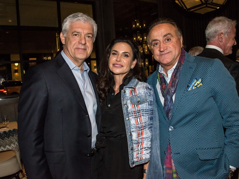 Fehmi Karahan with Vivian and Alberto Lombardi at Toulouse, Legacy West. All photography by Stephanie Tann. , Toulouse Cafe and Bar, Plano restaurant, french