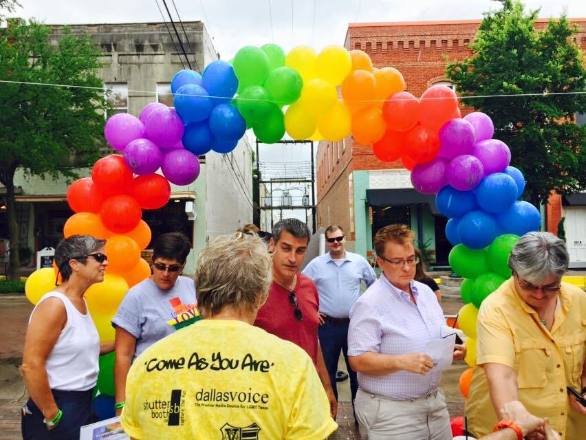 north texas pride festival balloons