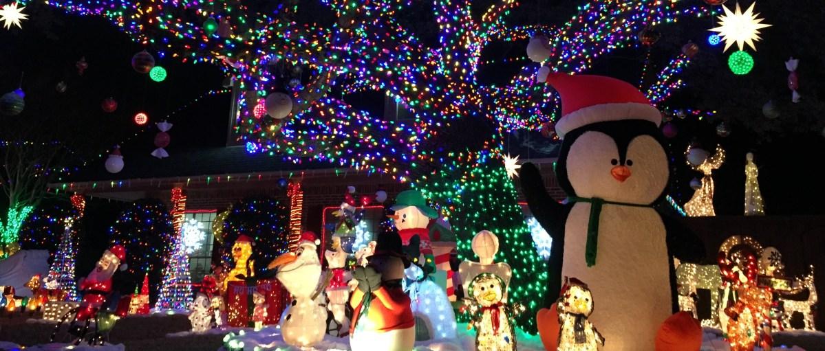 biscayne drive, holiday christmas lights, plano, texas