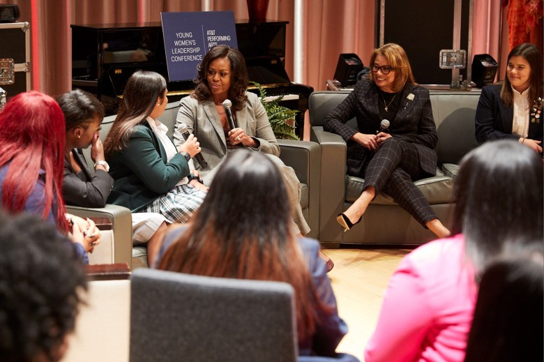 michelle obama at young womens leadership conference photo by nate rehlander 2