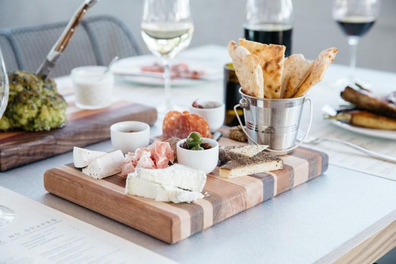 salami cheese board